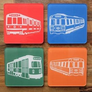 Boston MBTA Drink Coaster Set